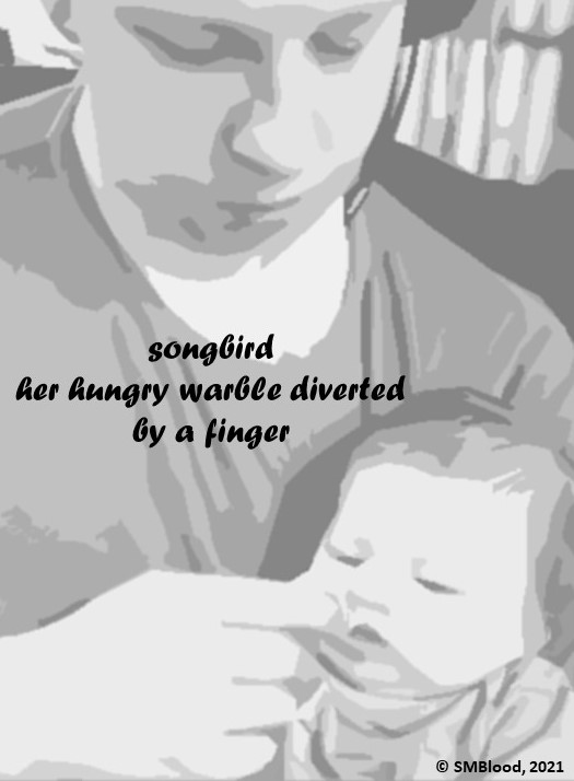 Father holding hungry baby.